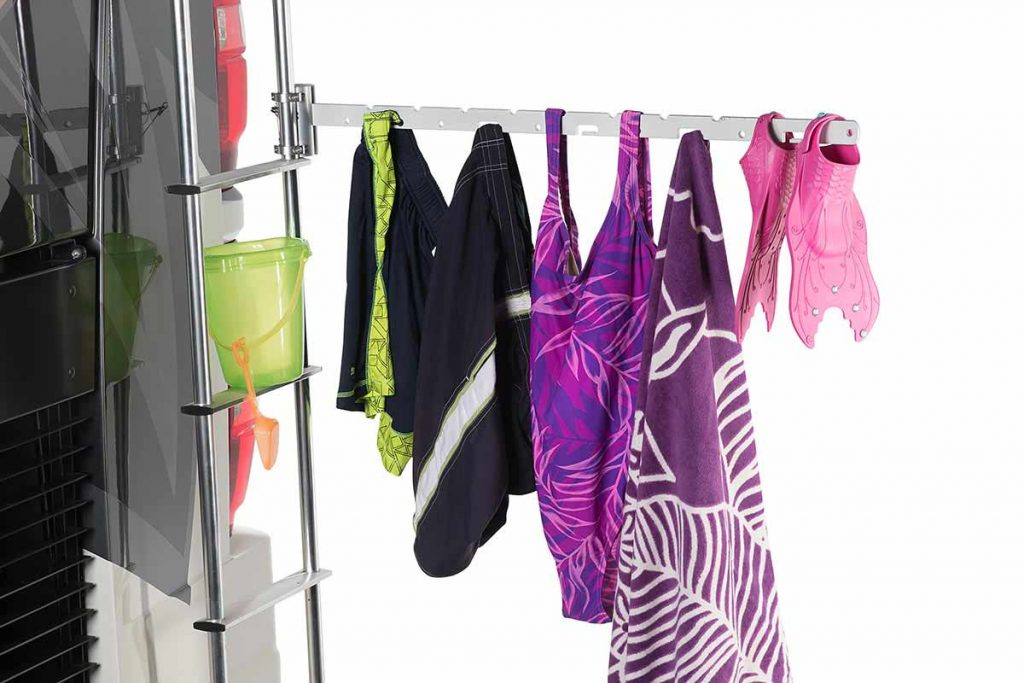 RV Ladder Clothes Drying